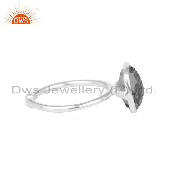 Exporter Howlite Gemstone Sterling Silver Adjustable Ring Jewelry Supplier