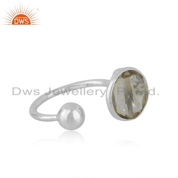 Exporter Lemon Topaz Gemstone Wholesale Sterling Fine Silver Designer Rings