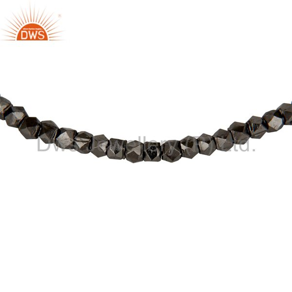 Exporter 925 Sterling Silver With Oxidized Womens Fashion Nuggets Stretch Bracelet