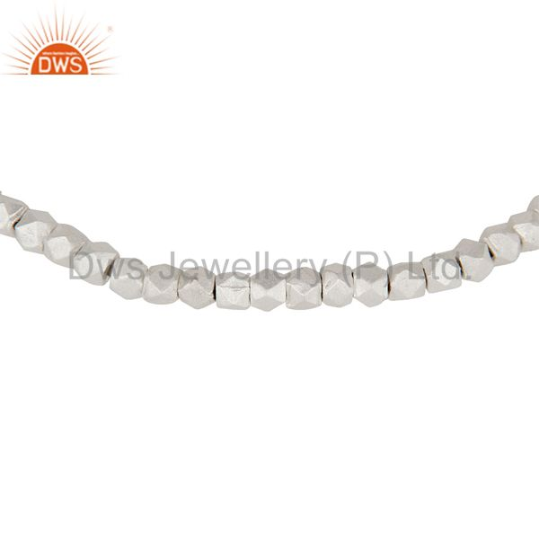 Exporter 925 Sterling Silver Women Fashion Nuggets Stretch Bracelet Jewelry