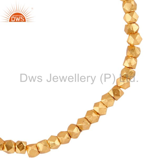 Exporter Gold plated Nuggets Beads Stretch Bracelet Wholesale Jewelry