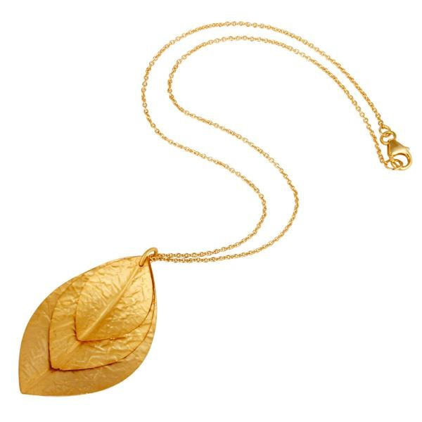 Suppliers Indian Handcrafted 925 Sterling Silver 24k Yellow Gold Plated Pendant Necklace