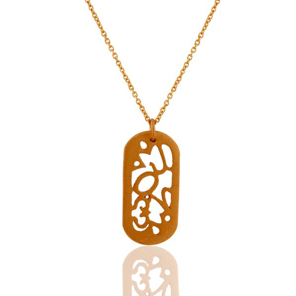 Suppliers 18-Carat Yellow Gold Plated Sterling Silver Handmade Designer Pendant With Chain