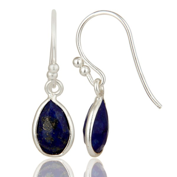 Suppliers Natural Lapis Lazuli Gemstone 925 Sterling Silver Earrings