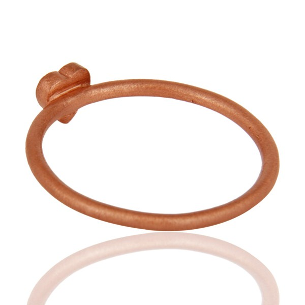 Best Quality 18K Rose Gold Plated Sterling Silver Heart Engagement Ring