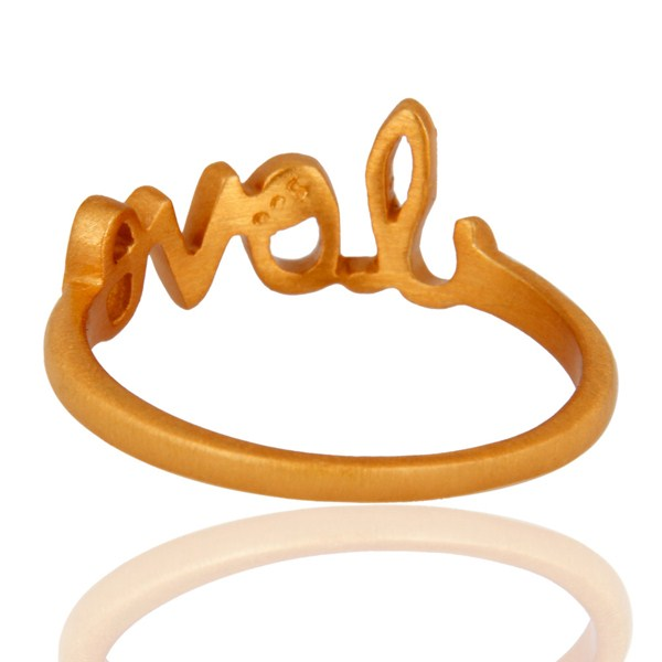Suppliers 18K Yellow Gold-Plated Sterling Silver Cursive Style