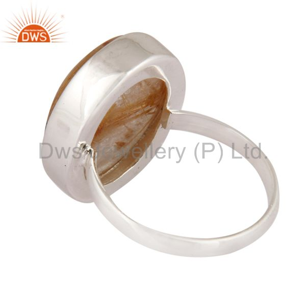 Best Quality 100% Genuine 925 Sterling Silver Natural Rutilated Quartz Gemstone Handmade Ring