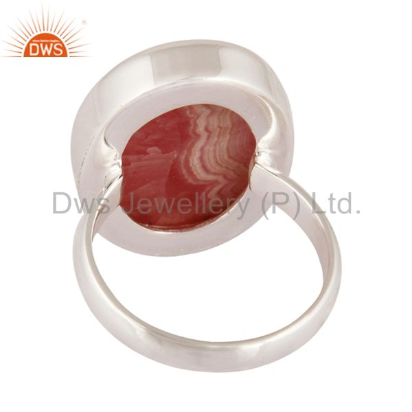Best Quality Rhodochrosite Gemstone 925 Sterling Silver Handmade Designer Ring Size 7 Jewelry