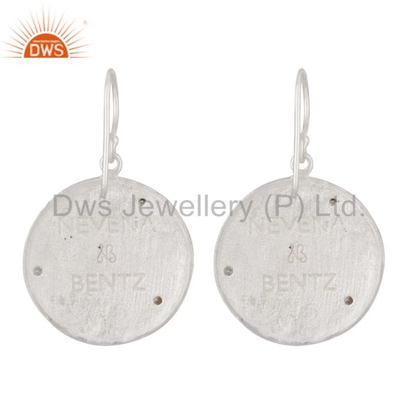 CZ Gemstone Dangle 14K Yellow Gold Plated 925 Silver Earrings Jewelry Wholesale India