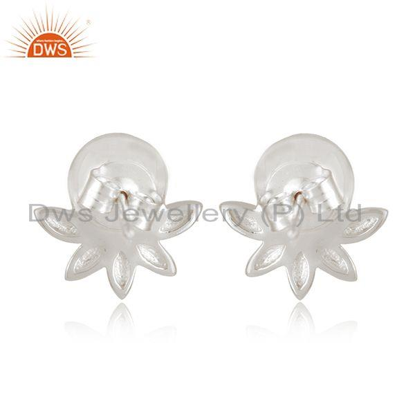 Best Quality Designer Fine Sterling Silver South Sea Pearl Gemstone Stud Earrings