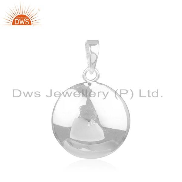 Supplier of Natural Pink Pearl Gemstone Handmade Fine Sterling Silver Pendant in India