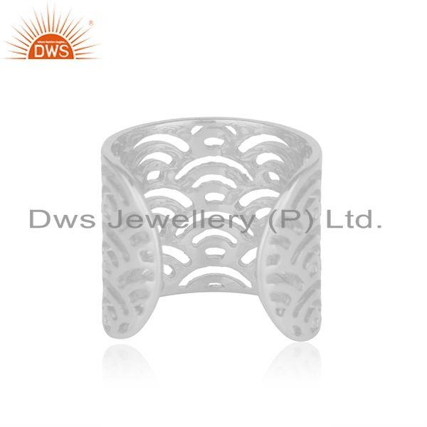 Genuine Filigree Design 925 Sterling Fine Plain Silver Rings Manufacturers