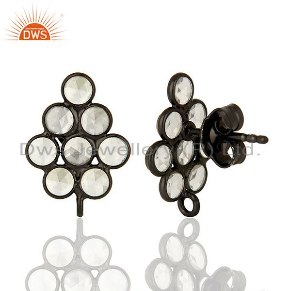 Indian Wholesaler of 925 Sterling Silver Zircon Gemstone Designer Womens Earrings Supplier