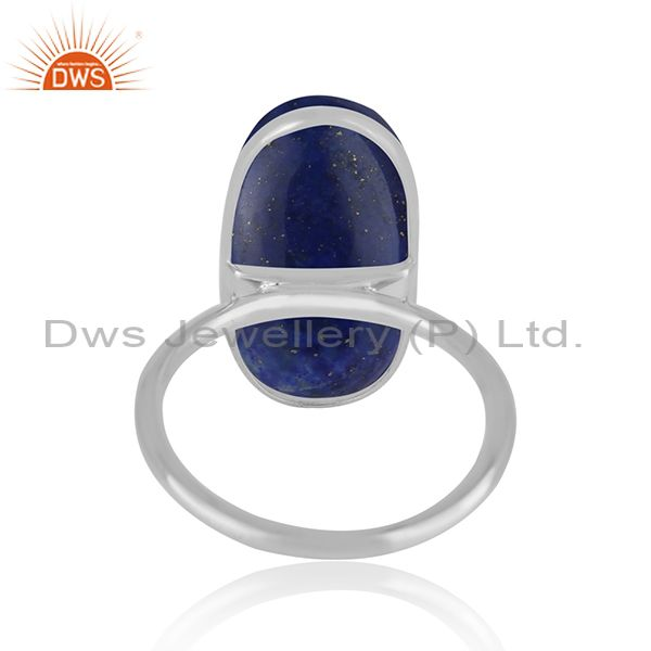 Wholesale Lapis Lazuli Gemstone Handmade Fine Sterling Silver Ring Manufacturer in India