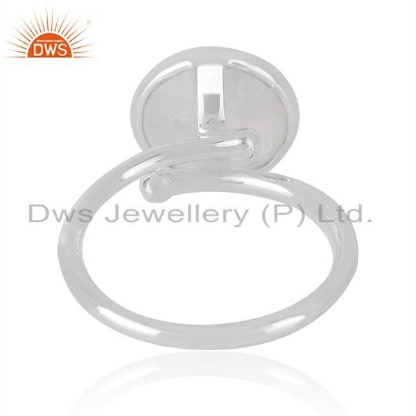 Manufacturer of Rainbow Moonstone Fine Sterling Silver Handmade Ring Manufacturer in India