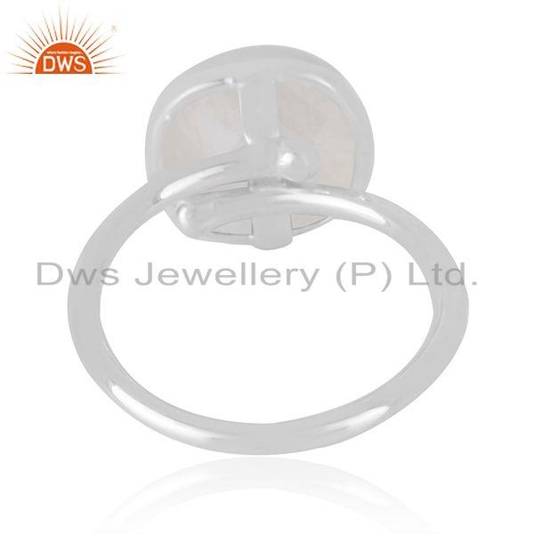 Manufacturer of Natural White Pearl Gemstone Fine Sterling Silver Handmade Ring in Jaipur