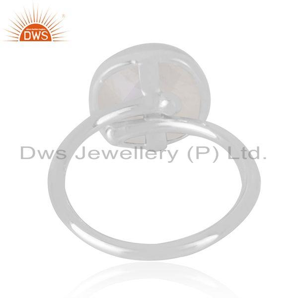 Wholesale Genuine Rainbow Moonstone Handmade Fine Sterling Silver Ring Supplier in India