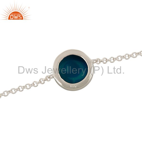 Suppliers Natural Druzy 925 Sterling Silver Chain Bracelet Party Wear Jewelry
