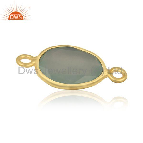 Suppliers Genuine Gemstone 925 Silver Gold Plated Connector Jewelry Findings Manufacturer