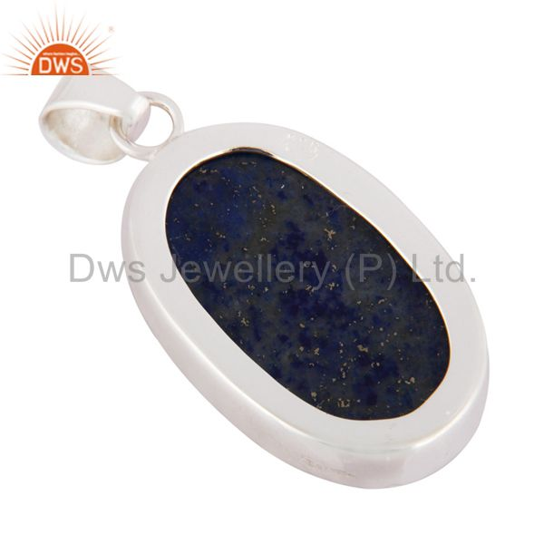 Suppliers Natural Lapis Lazuli Gemstone Designer Handmade Pendant Made In Sterling Silver