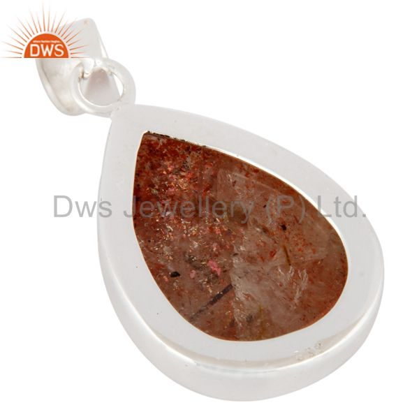 Suppliers Natural Sunstone Gemstone Pendant Handcrafted 925 Sterling Silver Jewelry