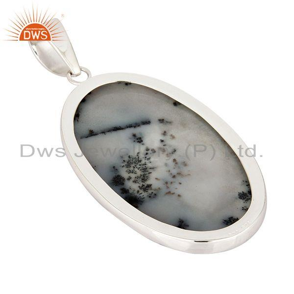 Suppliers Natural Dendritic Opal Gemstone 100% Genuine 925 Sterling Silver Pendant