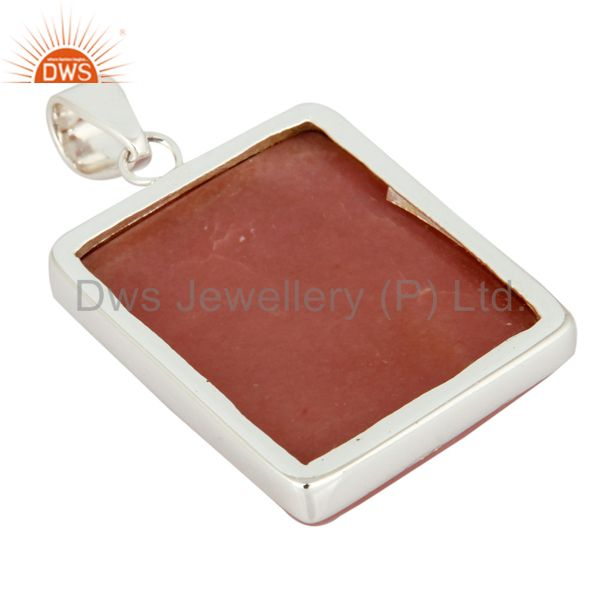 Supplier of Natural Pink Opal Gemstone High Quality 925 Sterling Silver Handmade Pendant In Jaipur