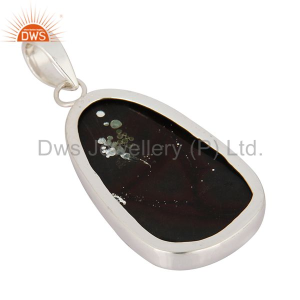 Manufacturer of Natural Ammolite Gemstone Pendant Handcrafted In Solid Sterling Silver Jewelry In India