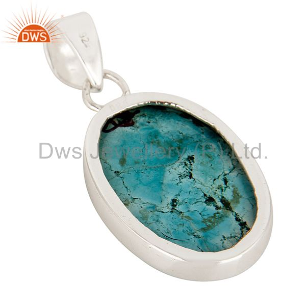 Suppliers Handmade Sterling Silver Turquoise Gemstone Bezel Set Pendant
