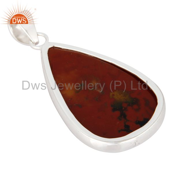 Suppliers Artisan Made Natural Bloodstone Gemstone Sterling Silver Pendant - Fine Jewelry