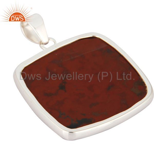 Suppliers Handmade Solid 925 Sterling Silver Pendant With Natural Bloodstone Jewelry
