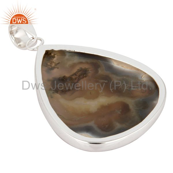 Suppliers Handmade Bezel Set Ice Solar Quartz Gemstone Genuine 925 Sterling Silver Pendant
