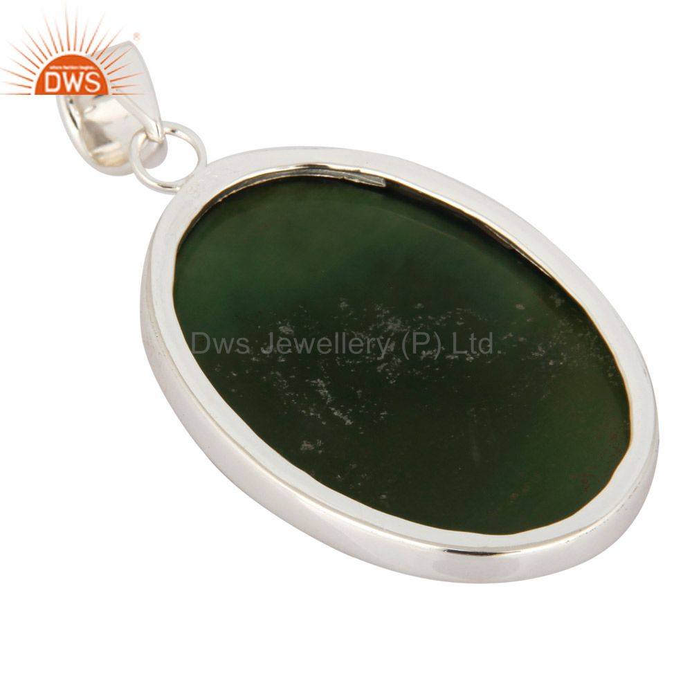 Suppliers Handmade Natural Vasonite Gemstone Sterling Silver Pendant Jewelry From India