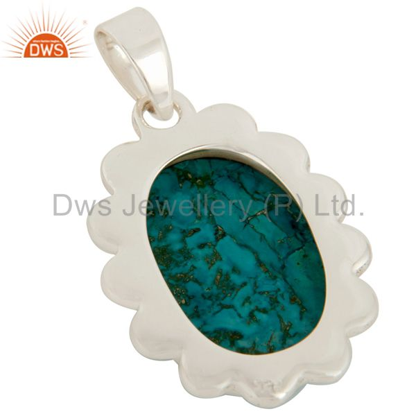 Suppliers Handmade Turquoise Gemstone Solid Sterling Silver Pendant Jewelry