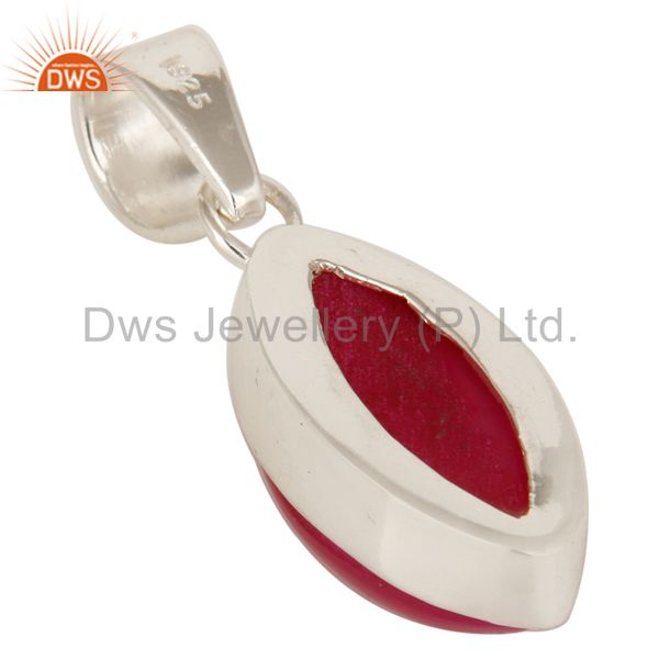 Suppliers Pink Druzy Agate Gemstone Genuine Sterling Silver Bezel Set Pendant