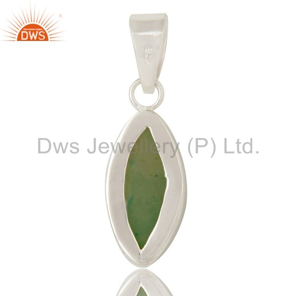 Suppliers Light Green Druzy Agate Gemstone Genuine Sterling Silver Bezel Set Pendant