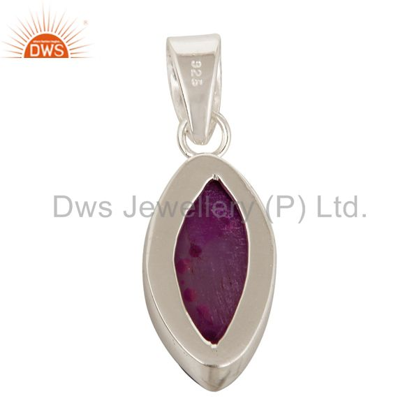 Suppliers Handmade Solid Sterling Silver Pink Druzy Agate Marquise Pendant