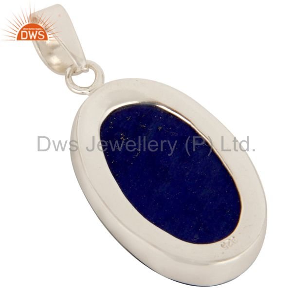 Suppliers Handmade Solid Sterling Silver Lapis Lazuli Gemstone Pendant Jewelry