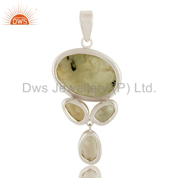 Suppliers Prehnite, Green Amethyst and Lemon Topaz Sterling Silver Handmade Pendant
