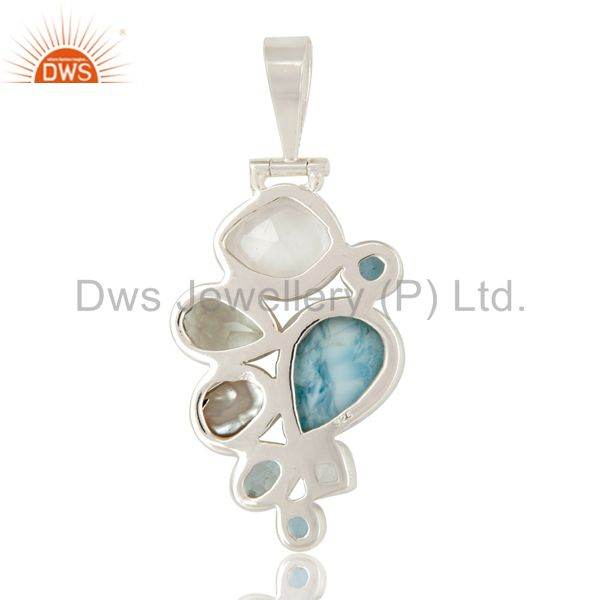 Suppliers Larimar, BT, Crystal, Amethyst and Fresj Water Pearl 925 Silver Pendant