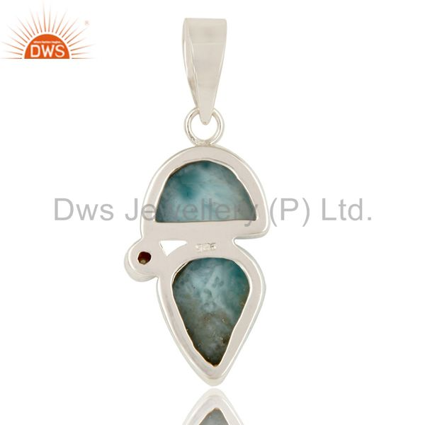Suppliers Larimar and Pearl Sterling Silver Handmade Pendant