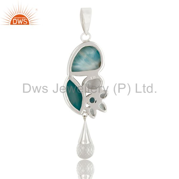Suppliers Larimar Multi Color 925 Sterling Silver Handmade Exclusive Pendant Jewelry