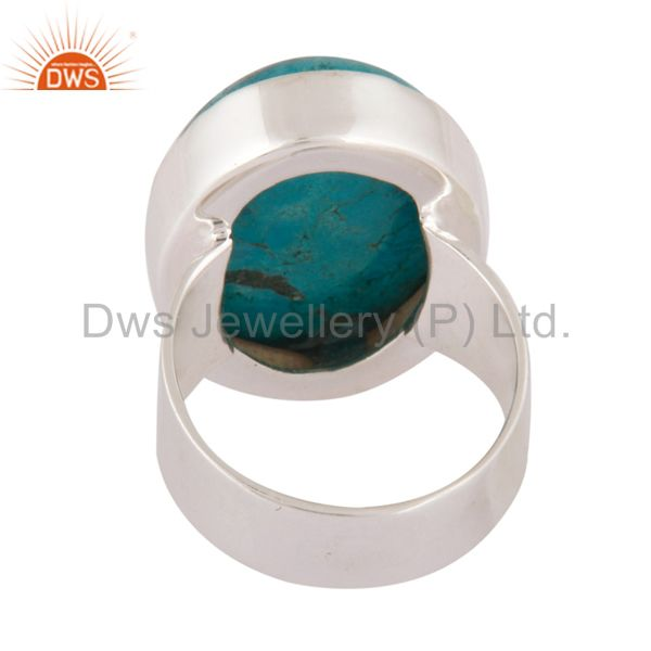 Suppliers Natural Matrix Turquoise Gemstone Ring Made In Solid 925 Sterling Silver Jewelry