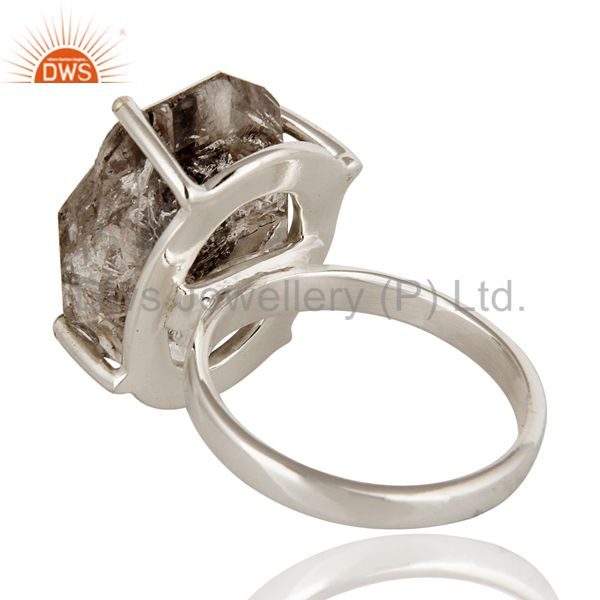 Suppliers Solid Sterling Silver Herkimer Diamond Solitaire Rings