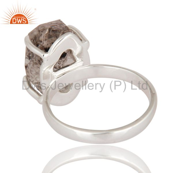 Suppliers Natural Herkimer Diamond Solitaire Ring Made In Solid 925 Sterling Silver