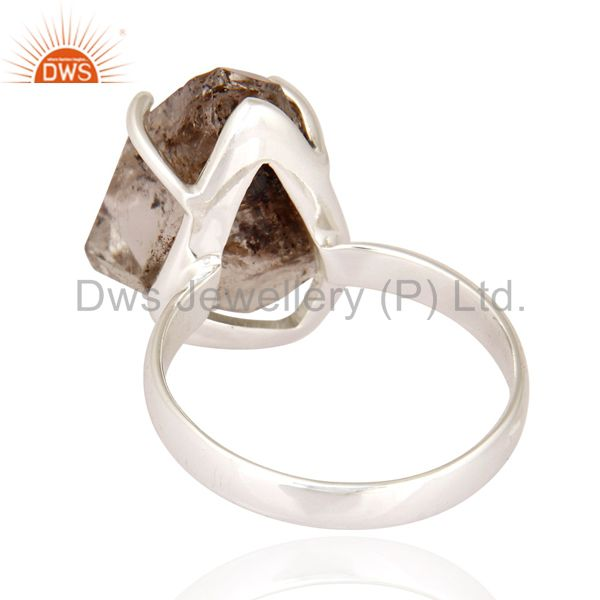 Suppliers Herkimer Diamond Genuine 925 Sterling Silver Prong Set Engagement Ring