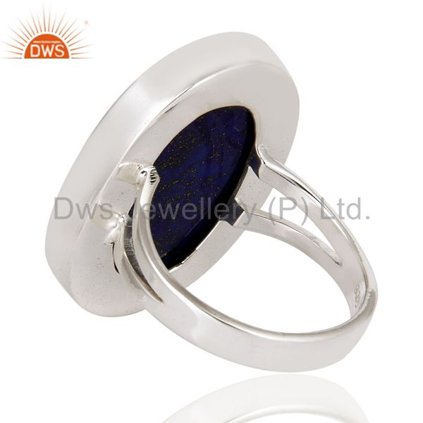 Suppliers Handmade Sterling Silver Lapis Lazuli Gemstone Statement Ring Jewelry