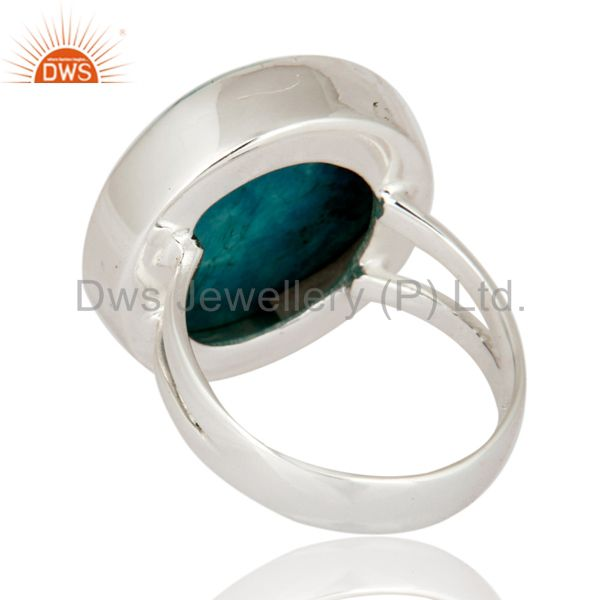 Suppliers Natural Turquoise Gemstone 925 Sterling Silver Handmade Ring