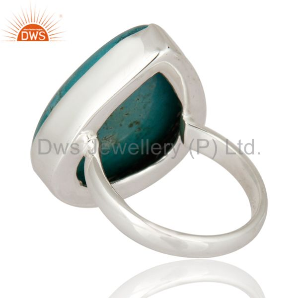 Suppliers Indian Artisan Made Solid 925 Sterling Silver Turquoise Gemstone Ring