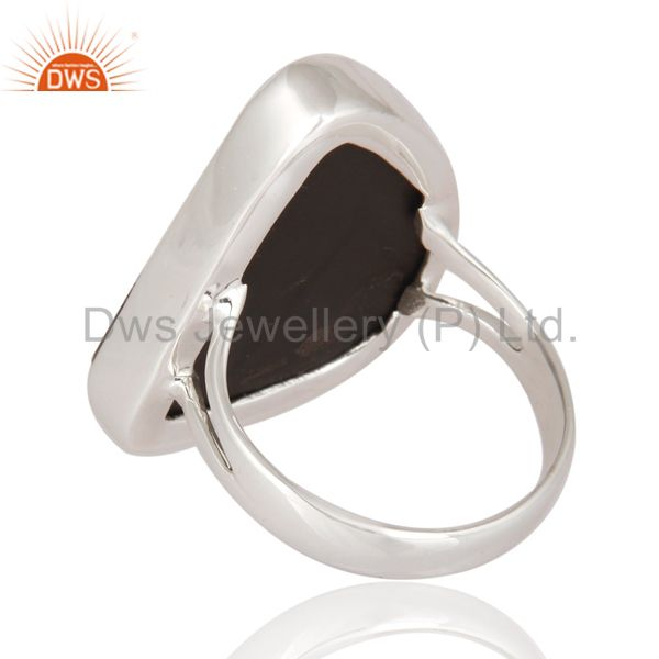 Suppliers Natural Ammolite Gemstone Ring Handmade 925 Sterling Silver Jewelry Size 9